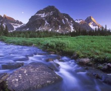Magog Creek and Naiset Point, Mount Assiniboine Provincial Park/