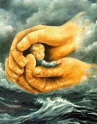God Holding