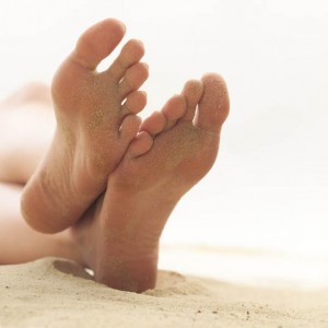 Bare Feet on Sand