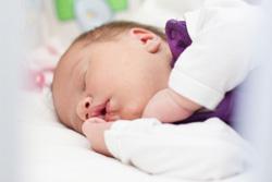 Cute newborn baby sleeping.